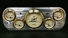 1937 1938 CHEVY CAR 5 GAUGE CLUSTER GOLD