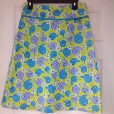 Lilly Pulitzer Escargot Snail Print Skirt Size 6