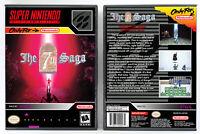 7th Saga, The - Super Nintendo SNES Custom Case *NO GAME*