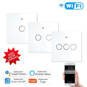 WiFi RF433 Smart Touch Switch 2/3 Way Smart Life/Tuya App Control for Alexa