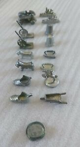 Lot Of 17  Monopoly Metal Tokens Various Vintages