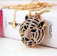 Fashion Betsey Johnson Pendant Rhinestone Chain Tiger head Jewelry Necklaces