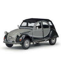 Welly 1:24 Citroen 2CV 6 Charleston Diecast Model Sports Racing Car Gray