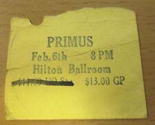 1992 Primus Eugene Oregon Concert Ticket Stub Sailing The Seas Of Cheese Tour