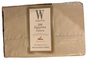 Wamsutta Twin Flat 300 Thread Count Egyptian Sateen 100% Egyptian Cotton Canvas