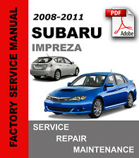 Subaru Impreza 2008 2009 2010 2011 Service Repair Workshop Manual + Wiring diag.