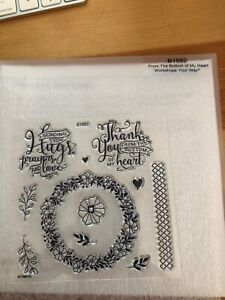 CTMH Close to My Heart Stamps B1592 From the Bottom of My Heart NEW
