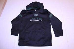Youth New York Jets S (8) Athletic Performance Hoodie Hooded Sweatshirt (Black)