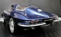 1963 Corvette Sport Car Race 18 Chevrolet Built Vintage 24 Carousel Blu 12 Model