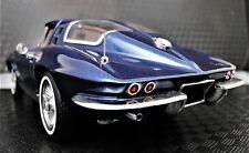 1963 Corvette Sport Car Race 18 Chevrolet Built Vintage 24 Carousel Blu 12 Model
