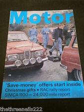 MOTOR MAGAZINE - SIMCA 1100 - NOV 29 1969