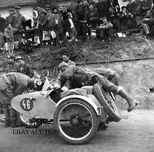 Triumph 250 Special sidecar motorcycle racing photo photograph