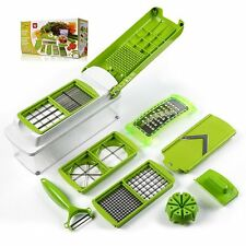 12Pcs Super Slicer Vegetable Fruit Peeler Dicer Cutter Chopper Nicer Grater 【US】