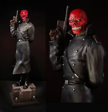 SIGNED & SKETCHED By R. BOWEN RED SKULL STATUE Captain AMERICA AVENGERS Bust