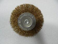 """3"""" inch Wire Wheel Brush 1/4 Inch round arbor Shank mandrel Crimped  steel wire"""