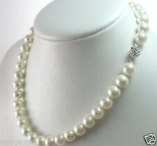 "10mm AAA+ White South Sea Shell Pearl Necklace 18"" YY003"