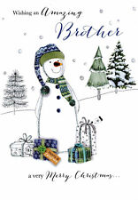 Amazing Brother Embellished Christmas Card Joie De Vivre  Greeting Cards