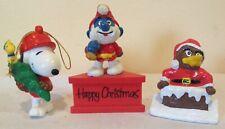 Vintage Christmas Ornaments PAPA SMURF, KIWI FOLK ,SNOOPY