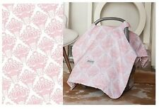 CARSEAT CANOPY ANGELINA Infant Car Seat Cover Cool Cotton + Soft Warm Minky NEW