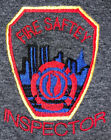 FDNY NYC Fire Department New York City T-Shirt Sz L Fire Safety Inspector
