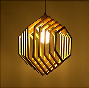 Bee Pupa Wood European Style Pendant Decoration Lamp Home Decoration
