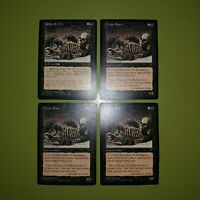 Crypt Rats x4 Visions 4x Playset Magic the Gathering MTG 1 Foreign