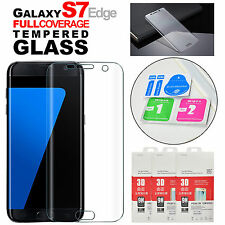 New Full Coverage Transparent Tempered Glass Screen Protector For GALAXY S7 EDGE