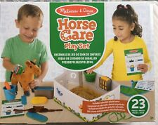 MELISSA AND DOUG FEED & GROOM HORSE CARE PLAY SET INCL. SOFT PLUSH HORSE