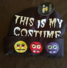 Halloween Hat This is My Costume Light up hat NWT Vampire Faces sock cap
