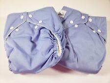 "2 Fuzzi Bunz Cloth Diapers ""Perfect Size"" w Inserts Small 7-18 lbs Wisteria Nwot"