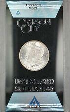 1883-CC GSA Hoard Morgan Silver Dollar $1 Coin ANACS MS-62 with Box & COA RL