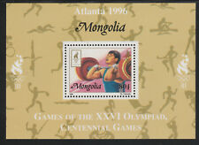 Mongolia 5565 - 1996 OLYMPICS - WEIGHTLIFTING  DELUXE SHEET unmounted mint