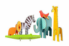 Petit Collage Pop-out and Play Safari African Animals Toy Zebra Giraffe Lion