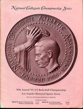 1968 Final Four Program UCLA Champs Alcindor Ohio State Houston UNC Ex Cond