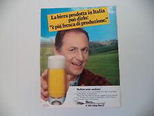 advertising Pubblicità 1984 BIRRA e RENZO ARBORE  E SAI COSA BEVI