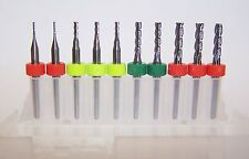 4 FLUTE MICRO MACHINING KIT - 10 NEW CARBIDE ENDMILLS