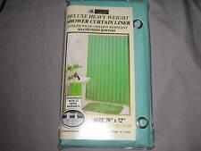 Shower Curtain Liner 70x72 Magnetized Bottom Metal Grommets Green Bath New!