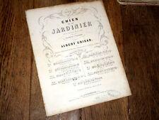 chanson du jardinier de l'opéra de Grisar Le Chien du Jardinier 1855 piano chant