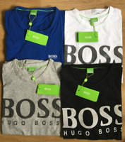 Hugo Boss Short Sleeve Men's Crew Neck T-shirts Big Logo