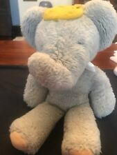 Vintage 1977 RANDOM HOUSE EDEN Babar the King Plush Elephant Crown DOLL FIGURE