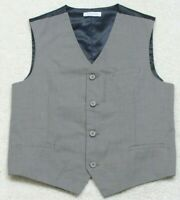 Dress Vest Lined Gray & Blue Polyester Blend Button Up Solid XL 18/20 Izod Boys
