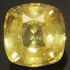 Natural Unheated Yellow Sapphire 10.57 Carats Big Loose Gemstone Sri Lanka Rare