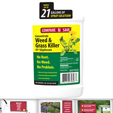 Compare-N-Save Concentrate Grass and Weed Killer, 41-Percent Glyphosate, 32-O...