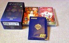 DOCTOR WHO BBC VIDEO BOX SET + LTD LEATHER POSTCARD ALBUM 1997 Peter Davison
