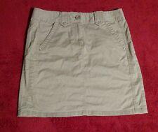Ann Taylor Women's Beige Mini Skirt Size 0 (Waist 29 Inches 16.5 Inches Length)