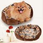 Pet Dog Nest Puppy Cat Soft Bed Fleece Warm House Kennel Plush Mat Coffee Pad