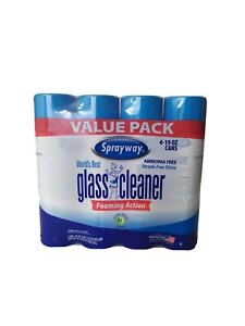 6 PK SPRAYWAY GLASS CLEANER Windshield Mirrors, Screens, Ammonium Free 6- 19 oz