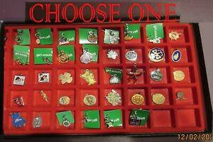 Girl Scout CHARMS 38 Different YOU CHOOSE, New & Vintage COLLECTOR GIFT Combine