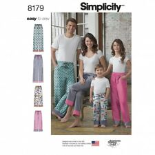 Simplicity Family Easy Sewing Pattern 8179 Casual Lounge Pants & Pyjamas ...