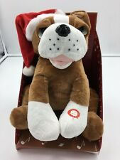 "Xmas 10"" Entertaining Musical Singing 'Let it Snow' Animated Brown Boxer Dog"